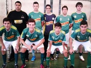Jogadores de time de futsal de Bom Despacho  (Foto: Guilherme /Arquivo Pessoal)