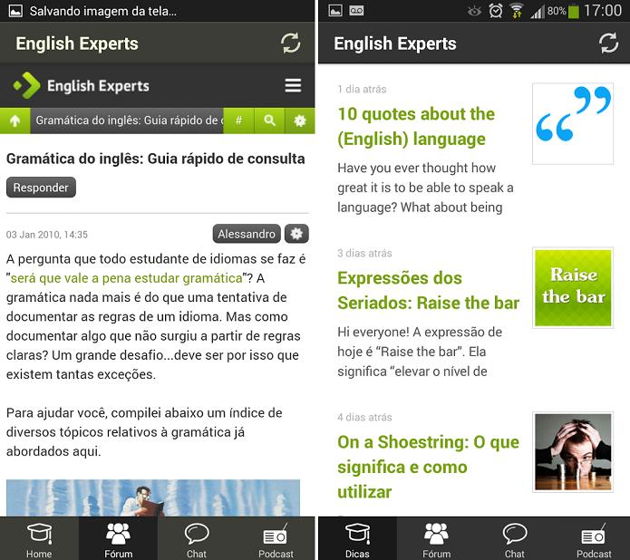 English Experts é um app para aprender inglês diretamente do Android (Foto: Divulgação)