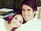Kaká homenageia a mulher em dia de seu aniversário: 'Te amo'