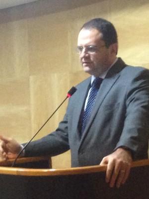 O ministro do Planejamento, Nelson Barbosa, em evento em SP nesta segunda-feira  (Foto: Tais Laporta/G1)