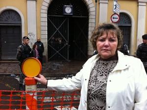 Tereza Aneli de Lorenzo, proprietária da Banca Central do Mercado Público de Porto Alegre (Foto: Gabriela Haas/G1)