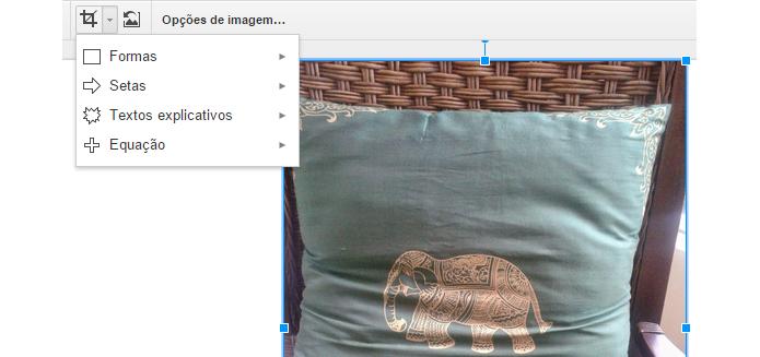 Apresentações permite cortar fotos em formas diferentes (foto: Reprodução/Google)