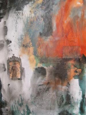 Detalhe de obra de Dirce Körbes, da série 'Primeira Impressão' (Foto: Divulgação)