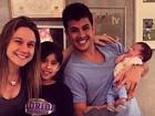 Fernanda Gentil comemora um mês do filho, Gabriel