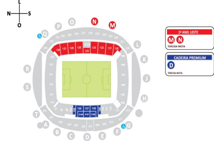 Mapa Arena das Dunas - Torneio Internacional de Futebol Feminino (Foto: Reprodução)