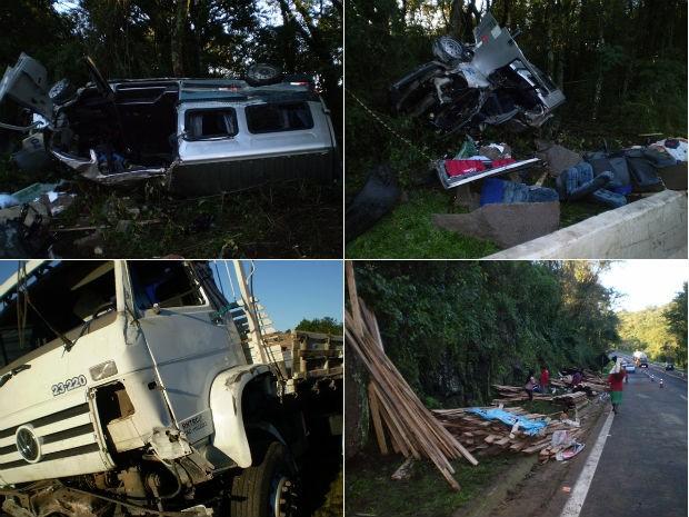 Acidente Laranjeiras do Sul (Foto: Radiodifusão Campo Aberto / Laranjeiras do Sul)