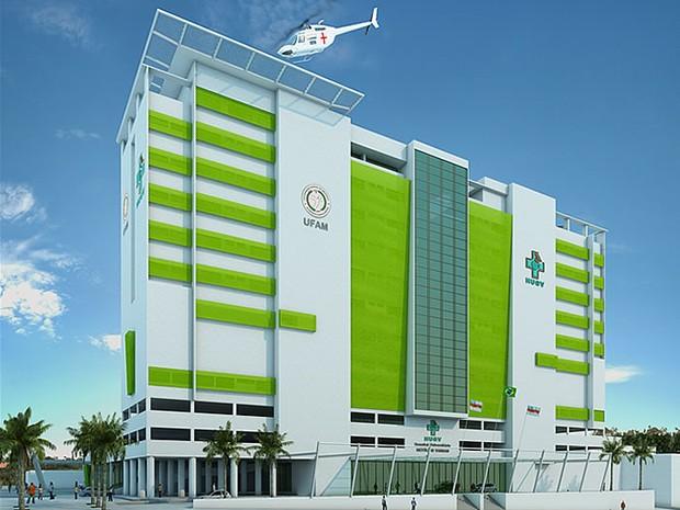 Projeto do novo prédio do HUGV (Foto: Reprodução/Ufam)