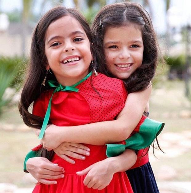 As gemêas Isabella e Helena (Foto: Reprodução)