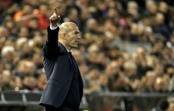 """Zidane reclama da falta de atenção  do Real: """"Perdemos em dez minutos"""""""