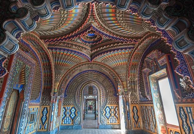 Sala dei Pavoni no Castelo de Sammezzano, na Itália (Foto: Divulgação)