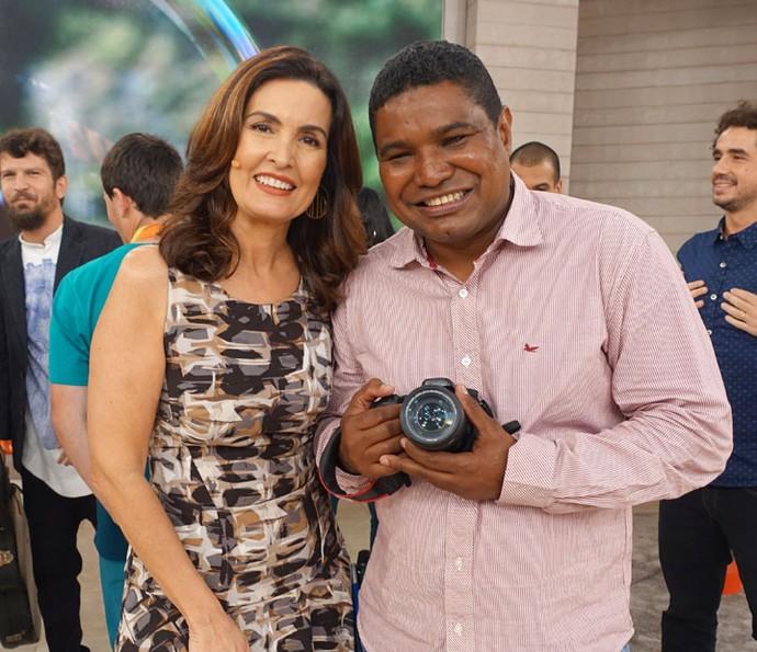 O fotógrafo João Maia também esteve no programa (Foto: Juliana Hippertt/Gshow)
