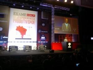 Ministro Joaquim Barbosa profere palestra em São Paulo (Foto: Rosanne D'Agostino/G1)