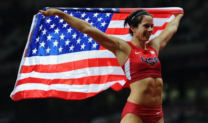 Jennifer Suhr salto com vara (Foto: Getty Images)