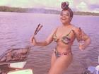 Gaby Amarantos faz churrasquinho e posa de biquíni: 'Sem medo de ser feliz'