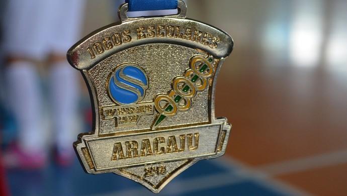 Medalha dos Jogos Escolares TV Sergipe 2015 (Foto: Osmar Rios / GloboEsporte.com)