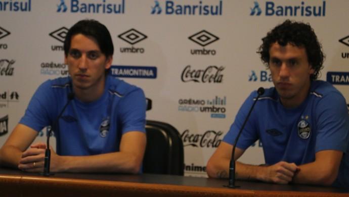 Pedro Geromel Galhardo Grêmio (Foto: Eduardo Moura/GloboEsporte.com)