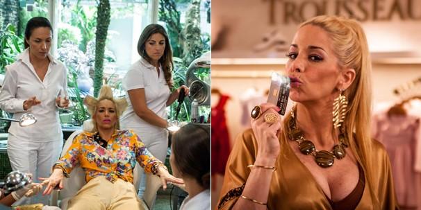 Danielle Winits é Jane, namorada de Tino (Leandro Hassum) em 'Até que a Sorte Nos Separe' (Foto: Divulgação)
