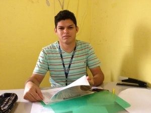 Junio Silva, gerente do Sine em Ariquemes (Foto: Eliete Marques/G1)