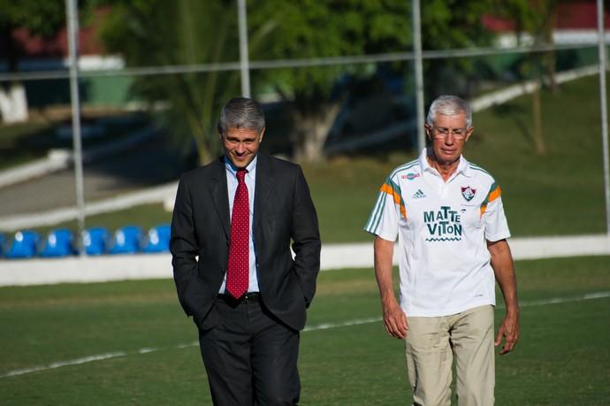 Peter Siemsen, Pedro Antônio Ribeiro da Silva (Foto: Bruno Haddad/Fluminense FC)