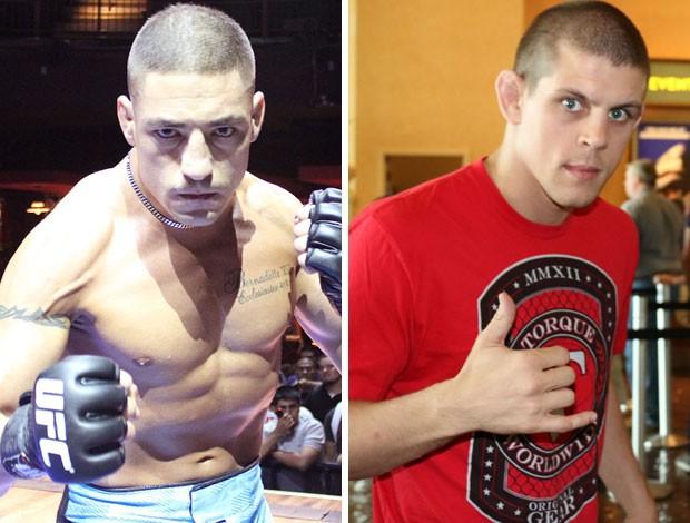 montagem MMA Diego Sanchez x Joe Lauzon (Foto: Globoesporte.com)