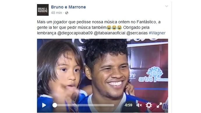Bruno e Marrone, Diego Neves, Itabaiana (Foto: Reprodução / Facebook)