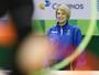 Ferezin festeja resultado da ginástica rítmica nos Jogos Olímpicos do Rio