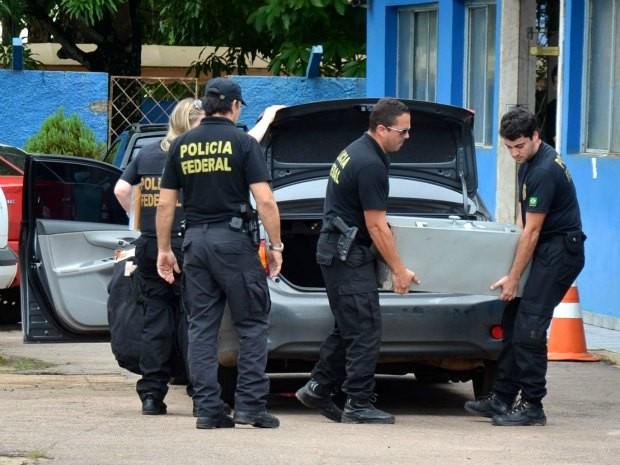 Operação da Polícia Federal apreendeu vários equipamentos em secretarias de Porto Velho (Foto: Gilmar de Jesus/Divulgação)