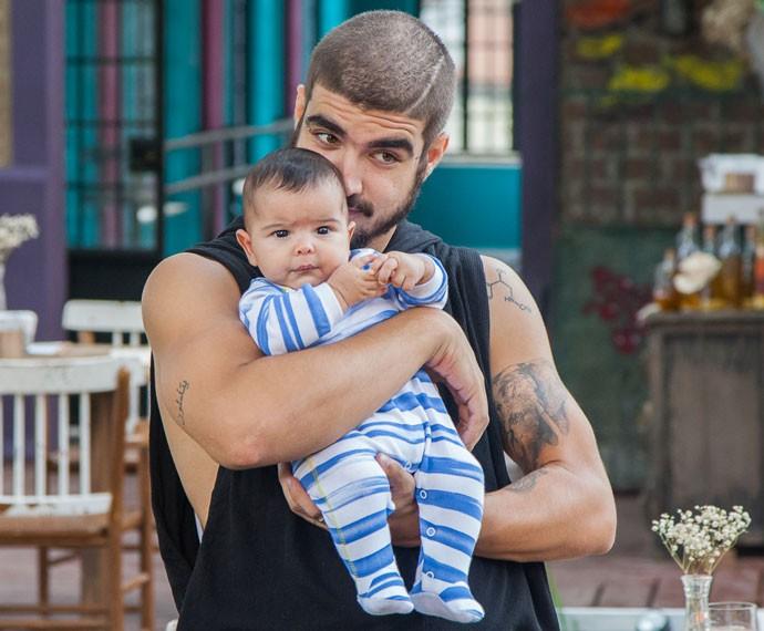 Paulucho é a cara do Grego, né?! (Foto: Artur Meninea/Gshow)