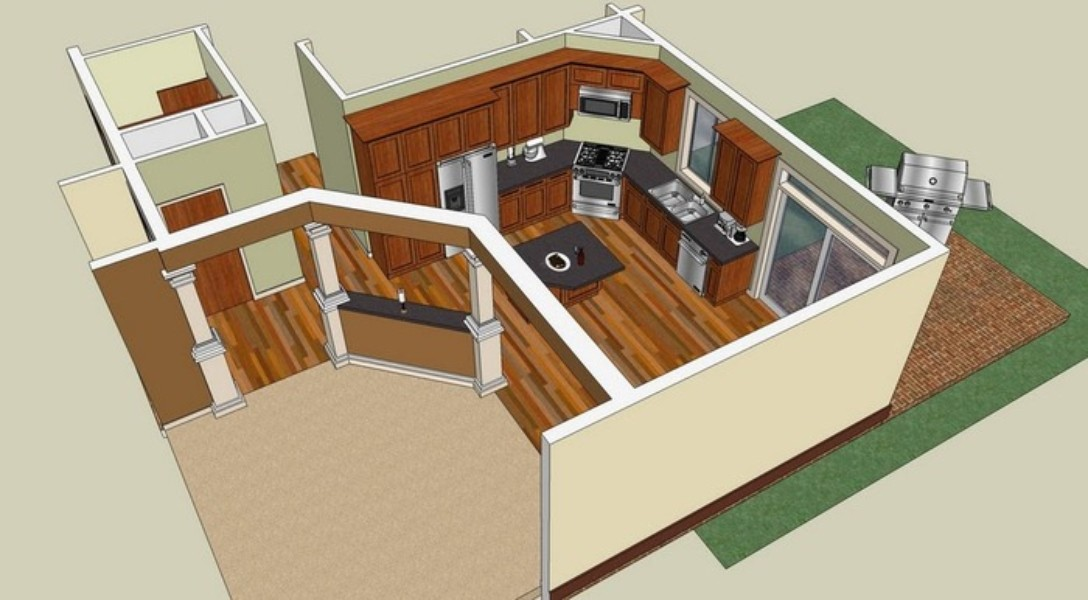 Google sketchup download techtudo for Modele maison sketchup
