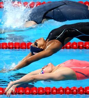 Etiene Medeiros semifinal 50m costas Mundial de Kazan (Foto: Satiro Sodré)