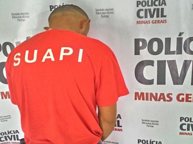 Lagoa da Prata, crime, latrocínio, prisão, preso (Foto: Júnior Nogueira/Jornal O Papael)