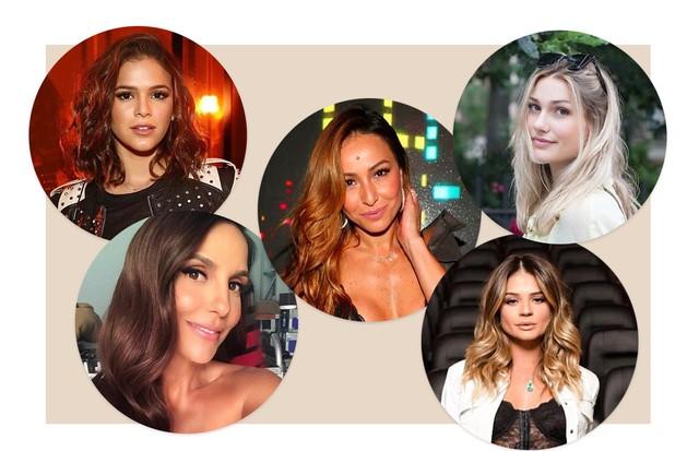 Bruna Marquezine, Ivete Sangalo, Sabrina Sato, Sasha Meneghel e Thássia Naves (Foto: Reprodução/ Instagram)