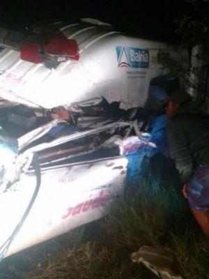 Bebê sai ileso de batida com ambulância na Bahia (Foto: Marcus Augusto/Site: Voz da Bahia)