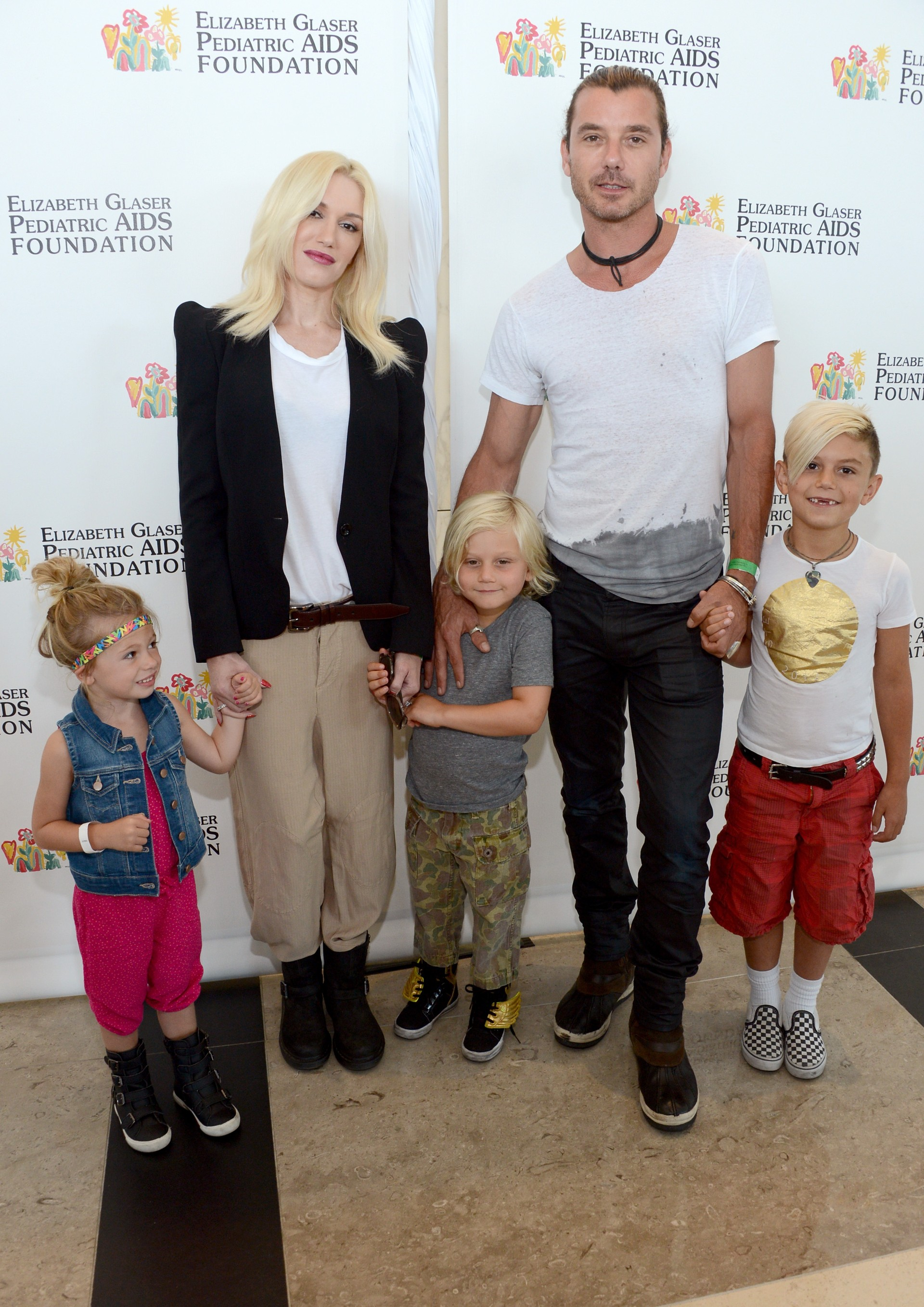 A líder do No Doubt trocou votos com Rossdale em 14 de Setembro de 2002. Os pombinhos têm três filhos. (Foto: Getty Images)