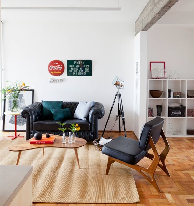 Apartamento pequeno tem decora o colorida e rea social - Piso pequeno moderno ...