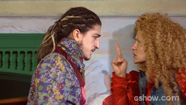 Gina dá uma dura em Nando (Foto: Meu Pedacinho de Chão/TV Globo)
