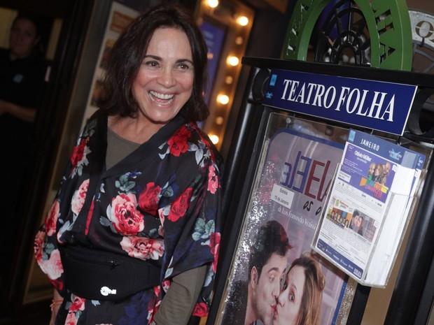 Regina Duarte em estreia de peça em São Paulo (Foto: Leo Franco/ Ag. News)