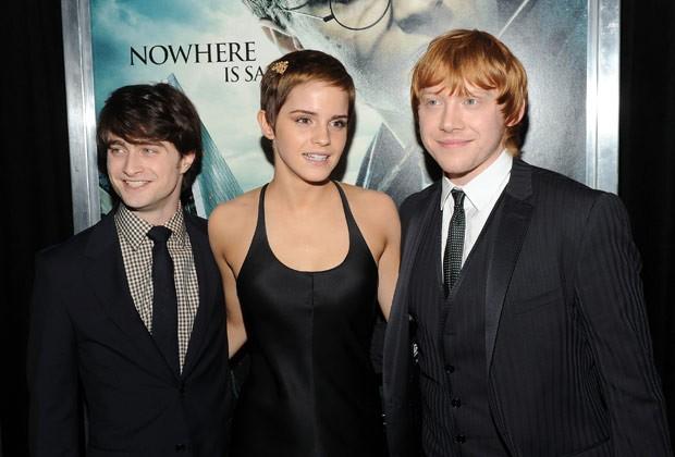 """Atriz mostrou seu cabelo curto durante a pré-estreia do último """"Harry Potter"""", em 2010 (Foto: Getty Images)"""