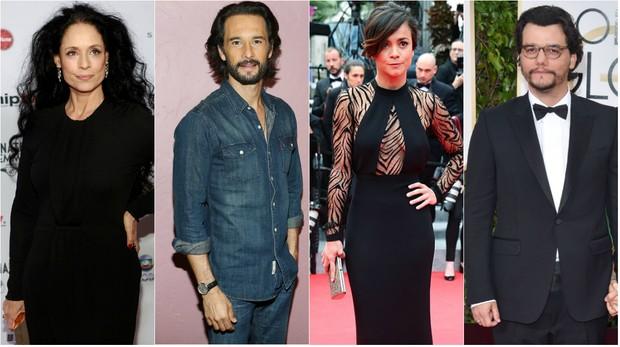 Sônia Braga, Rodrigo Santoro, Alice Braga e Wagner Moura são atores brasileiros que conquistaram Hollywood (Foto: Getty Image)