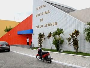 Camara de vereadores de Paulo Afonso aprovou reajuste de salários (Foto: Reprodução/TV Bahia)