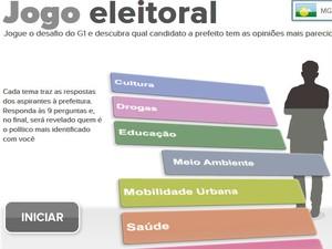 G1 lança Jogo do Eleitor para Montes Claros (Foto: Reprodução / G1 Grande Minas)
