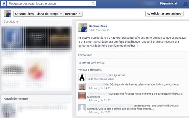 Amigos e parentes lamentaram a morte da tocantinense nas redes sociais (Foto: Reprodução/Facebook)