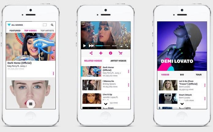 VEVO agora é um app universal, está mais fluido e cheio de recursos (Foto: Divulgação/AppStore)