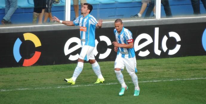 André Lima comemora gol contra o Timão (Foto: Diego Madruga)