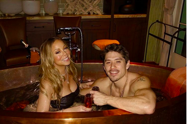 Mariah Carey com o dançarino Bryan Tanaka (Foto: Instagram)