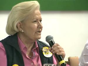 Ana Amélia Lemos - agenda de campanha - candidata a governadora do RS (Foto: Reprodução/RBS TV)