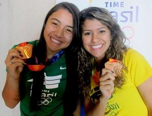 Gabriela Nishi e Wellyda Santos medalha ciclismo (Foto: Gabriel Fricke)