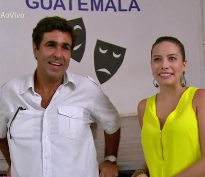 Orã explica que começou a fazer teatro após ver um apresentação escolar (Foto: TV Globo)