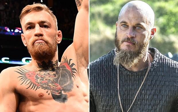 Montagem Conor McGregor e Ragnar Lothbro