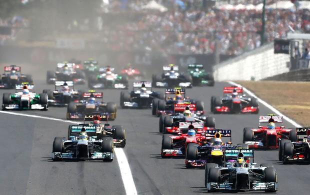 Hamilton largada GP Hungria (Foto: AP)